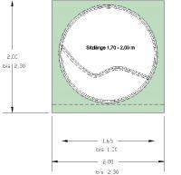 Rondo-Lounge - Prinzipskizze mit Abmessungen