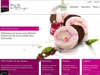 Screenshot neue Website Sander Gourmet GmbH, gleichzeitig Bildquelle für alle Fotos