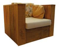 Die Wohnlichkeit zieht auf die Terrasse: Loungesessel 40982 aus Thermoholz von Schnieder