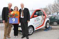 Die neue Smart-Fahrerin Carmen Krämer
