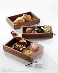 Brotbox aus Holz: Solid - Brot am Tisch & Buffet