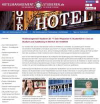 Die Startseite von www.Hotelmanagement-studieren.de / Bildquelle: TarGroup Media