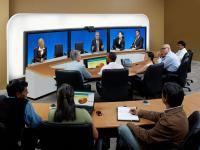 Telepresence-Raum von Cisco Systems; Bildquelle: Von: ArabellaStarwood Hotels & Resorts GmbH
