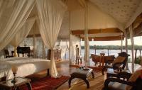Die Simba River Suite, eine der insgesamt zwölf Zeltsuiten von The Retreat