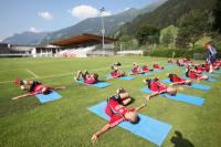 Die Spieler von Bayer 04 Leverkusen tanken Kraft beim Training in Zell am Ziller / Foto: Bayer 04