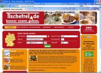 Startseite von Tischfrei.de / Bildquelle: Tischefrei.de Service GbR