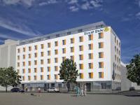 Gegenüber des Wiener Südbahnhofs entsteht ein neues Tulip Inn Hotel. (Quelle: Louvre Hotels Group)