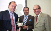 Gerhard Eichelmann, VDP-Präsident Steffen Christmann, Laudator Armin Diel / (c) Armin Faber