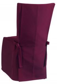Edel, stilvoll und neu im VEGA-Programm: Die Stuhlhussen mit Knopfleiste und mit Schleifen am Stuhlrücken oder an den Stuhlseiten