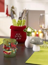 Weihnachtstrends in Rot und Grün