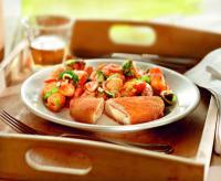 Schnelles Rezept ohne Fleisch: Valess Gouda mit roten Kartoffeln / Bildquelle: Medienbüro Mendack