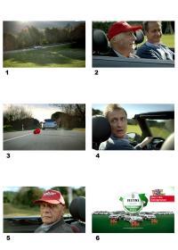 Mit den Motorsportexperten Niki Lauda und Florian König startet die Brauerei C. & A. Veltins ihre TV-Offensive 2013 / Bildquelle: Brauerei C.& A. Veltins GmbH & Co. KG