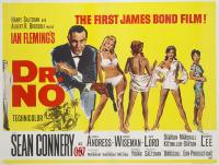 The poster for the very first Bond film, designed by David Chasman with illustrations by Mitchell Hooks. © 1962 Danjaq, LLC and United Artists Corporation.