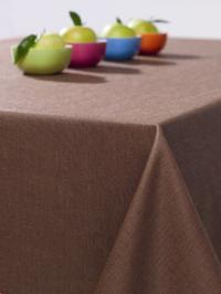 Wäschekrone Gartentischwäsche puritisch: Tischdecke in der Farbe Mokka, Foto: Wäschekrone
