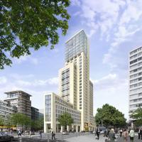 Außenaufnahme des Waldorf Astoria Berlin von Prof. Christoph Mäckler Architekten — Copyright Swan Operations Ltd.