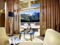 Die Mastersuite im Ritzlerhof verwöhnt die Hotelgäste mit Blick auf ein einmaliges Bergpanorama. Passend dazu: die luxuriöse Ausstattung der Suiten
