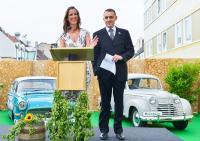 Kathrin Wickenhäuser und Alexander Egger auf dem Parkdach des Hotel Cristals (Copyright by Jurga Graf)