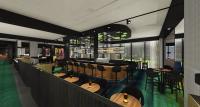 Entwurf der Lobby im neuen Adina Apartment Hotel in Hamburg © TFE Hotels