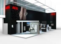 """Mit einem sogenannten """"bathroom-walk"""" greift  AEG Haustechnik auf der ISH 2017 in Halle 8.0, Stand D 96, die effiziente und unkomplizierte Badmodernisierung mit dezentralen Warmwasserbereitern und elektrischen Wärmelösungen auf und demonstriert zugleich elektrische Produktvielfalt von A-Z. / Bildquelle: EHT Haustechnik GmbH / Markenvertrieb AEG"""