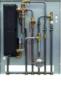 Die Wohnungsstation WSG ist baugleich wie die Variante WSP und bietet die gleichen Vorteile. Integriert ist jedoch ein spezieller Wärmeübertrager als langlebige, sichere Lösung für Einsatzgebiete mit besonders kalkhaltigem Trinkwasser. / Bildquelle: AEG Haustechnik