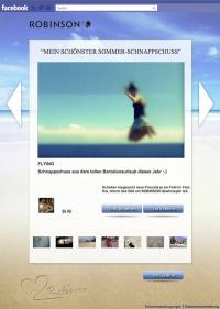 Galerie der neuen ROBINSON Facebook-App mit Foto zum Freischalten