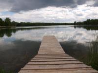 Hinein in diesen Baggersee im Naherholungsgebiet Mitterschütt bei Ingolstadt in Bayern