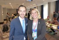 Janine Freisberg gemeinsam mit Florian Leisentritt, Hoteldirektor im