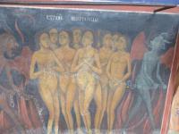 Ein Bild aus dem Rila Kloster: So stellte sich das Mittelalter die Hölle für die 'Ungastlichen' vor