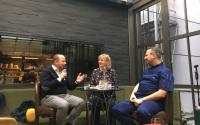 Chefs Talk mit Dirk Luther, Gabriele Heins, Tim Raue (v.l.) / Bildquelle: Vitalhotel Alter Meierhof