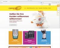 Der neue Webauftritt von Coffenco: Informationen zum individuellen Service wie auch alle Details zu den Produkt-, Service- und Maschinen-Konzepten, Bildquelle Pressebüro D.E Professional