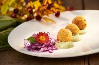 Gerichte aus der Vegan-vegetarischen Küche des Hotels