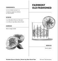 Rezeptkarte vom Old Fashioned / Bildquelle: Fairmont Hotels & Resorts