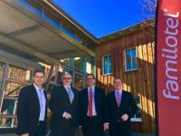 v.l.n.r.: Alexander Borchard, André Schulz, Sebastian Ott und Michael Albert. / Bildquelle: Familotel AG