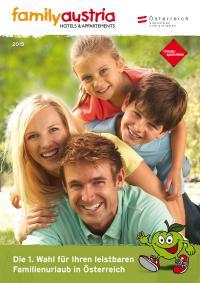 Der aktuelle Family Austria-Katalog - geballte Familienurlaubs-Vielfalt in streng qualitätsgeprüften Hotels und Appartements in ganz Österreich / Bildquelle: Family Austria