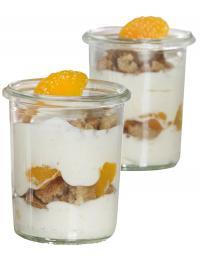 Fruchtquark Mandarine 2 Gläser / Bildquelle: FrieslandCampina Foodservice / GASTRO