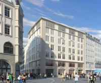 Marienplatz 22: Hier entsteht das neue Haus der Geisel Privathotels / Quelle_Bayerische_Hausbau