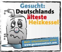 Aus alt mach' neu: Wer sich mit seiner alten Heizung bis zum 1. September 2015 auf der Website von german contract anmeldet, gewinnt mit etwas Glück eine neuwertige, energiesparende Anlage / Bildquelle: german contract