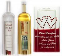 Tolles Präsent: Geldgeschenke Flasche, alle Bilderrechte Geschenke 24 GmbH