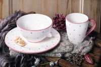 Gmundner Herzerl Rosa zum Beispiel zum Liebes Früehstück, Bildrechte Gmundner Keramik Manufaktur via TrendXpress