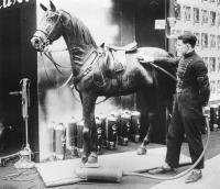 1928 - Na, endlich — der Pferdestaubsauger ist da! / Bildquelle: Messe Berlin GmbH