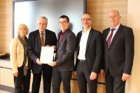 v.li.n.re: Dr. Sabine Dyas, Herbert Rütten, Christian Connerth, Olaf Gstettner, Bernhard Meiser (IHK) / Bildquelle: GBZ