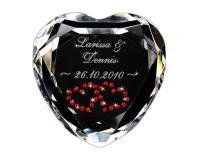Herz-Diamanten mit Gravur für Verliebte