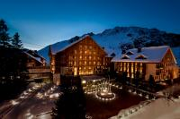 The Chedi Andermatt Hotel bei Nacht; Bilderrechte: General Hotel Management Ltd.