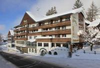 Aussenansicht im Winter vom Hotel Hirschen Wildhaus, gleichzeitig Bildquelle