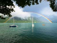 Regenbogen über dem Achensee / Bildquelle: Hotel Post am See
