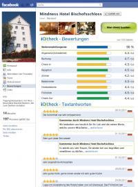 Facebook-Bewertungen des Mindness Hotel Bischofsschloss, gleichzeitig Bildquelle