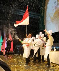 Das Nationalteam aus Singapur war Gewinner der IKA/Olympiade der Köche 2016; Bildquelle messe-stuttgart.de