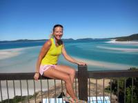 Sheila Rietscher am Whitehaven Beach auf Whitsunday Islands - Australien / Bildquelle: Sheila Rietscher