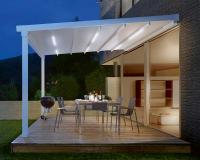 - Die perfekte Lösung für eine stimmungsvolle Atmosphäre: PERGOLA SUNRAIN mit integrierter LED-Beleuchtung