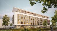 Rendering Außenansicht Leonardo Hotel in Ulm / © pro invest